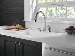 Allora Kitchen Faucet Delta Kate Single Handle Kitchen Faucet With Soap Dispenser