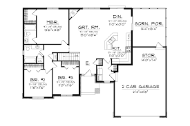 Ranch House Plan by Higgens Traditional Ranch Home Plan 051d 0674 House Plans And More