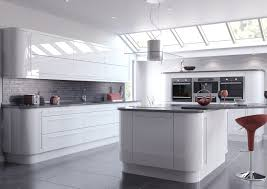 Ivory White Kitchen Cabinets by High Gloss Ivory Handle Less Door Kitchen Mill Homes Design