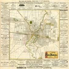 San Antonio Texas Map Zoom Map San Antonio In 1889 San Antonio Express News