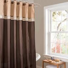 amazon com lush decor terra shower curtain 72 by 72 inch brown