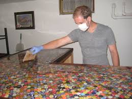 bottlecap countertop yes please for my at home bar i don u0027t have