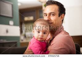 Single Stock Photos  Royalty Free Images  amp  Vectors   Shutterstock Shutterstock Attractive young single dad spending some time with his baby girl at home
