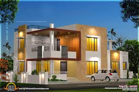 floor plan and elevation of modern house kerala home design and modern house plan