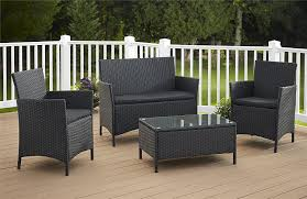 Black Wicker Patio Furniture Sets - amazon com cosco products 4 piece jamaica resin wicker