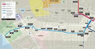 Los Angeles Light Rail Map by Metro Expo Line Set For May 20 Launch