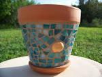 Mosaic Flower Pot Flower Planter Outdoor By Bluewaveglass – | LUXTICA.