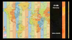 World Time Zones Map by World Time Zone Clock Youtube