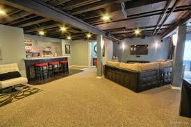 Black Ceiling Basement by Vibrant Ideas Spray Basement Ceiling Painted Basement Ceiling