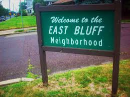 The weather has let up  well  somewhat as of this writing   and I can resume my tour of memories from growing up in the East Bluff neighborhood
