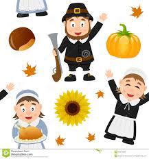 pilgrims on thanksgiving thanksgiving day pilgrim characters set stock vector image 45264796