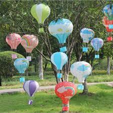 rainbow air balloon paper lantern home birthday christmas