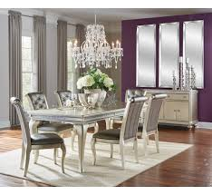 hefner silver 5pc dining set badcock more make your dining room shine the gorgeous plati