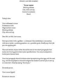 Job Cover Letter Template Job Cover Letter Basics Cover Letter     Job