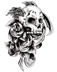 owl sugar skull tattoo design totally get it if i had the