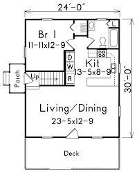 A Frame House Kit First Floor Plan Of Bungalow Cabin Cottage Traditional House Plan