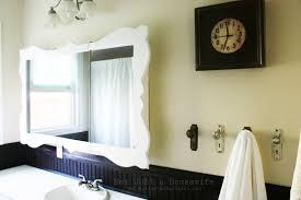 Bathroom Mirror Ideas On Wall Bathroom Classic Wooden Frame For Bathroom Mirror Frame Ideas