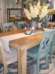 Farm Dining Room Table Love The Table Dressing With The Mix Of Chairs Cool Shabby