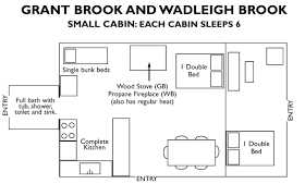 small floorplans hotel lodging accommodation cabins in maine baxter state park
