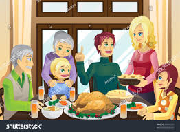 images of a thanksgiving dinner vector illustration family having thanksgiving dinner stock vector