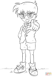 detective conan coloring page free printable coloring pages