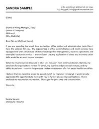 Email Cover Letter Template Administrative Assistant   Resume