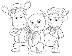 printable backyardigans coloring pages coloring me