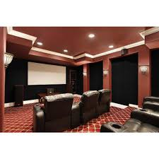 charlotte home theater foss quietwall 108 sq ft black acoustical noise control textile
