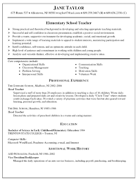 Tutoring Job Resume Preschool Teacher Resume Examples Sample Objectives For Classroom