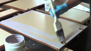 how to use chalk paint on cabinet faces youtube