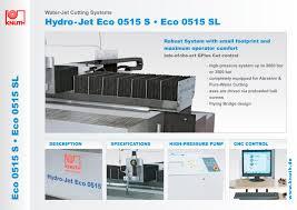 hydro jet eco 0515 s eco 0515 sl knuth machine tools pdf