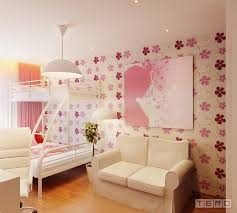 Girls Bedroom Decorating Ideas With  Beds Girls Bedroom Design - Girls bedroom wallpaper ideas