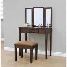 Bedroom Furniture Espresso Finish Megahome 3 Piece Espresso Vanity Set Mh206 The Home Depot