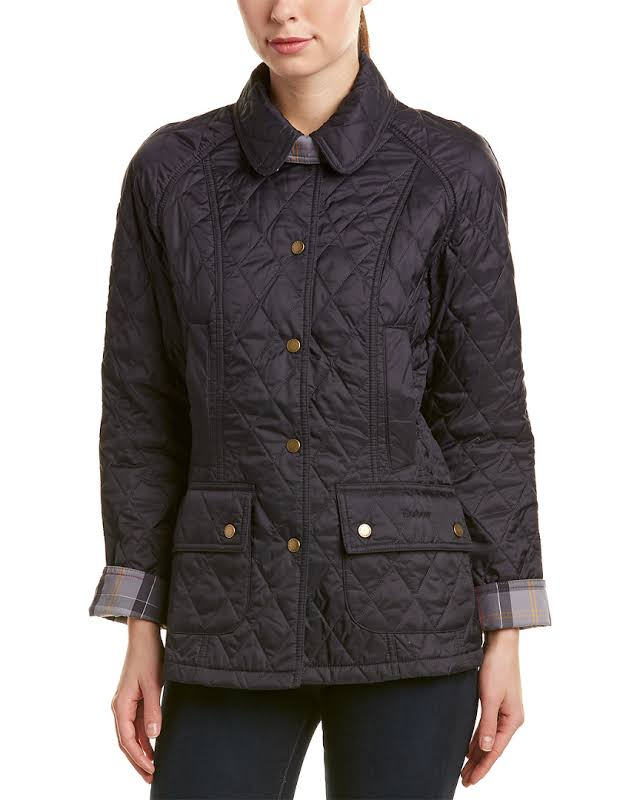 Barbour Summer Beadnell Quilted Jacket, 12, Blue