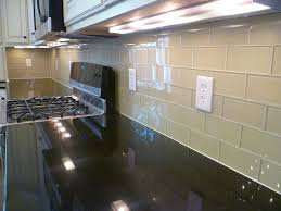 Cream Subway Tile Backsplash by Light Beige Off White Glass Subway Tile Kitchen Backsplash Wall