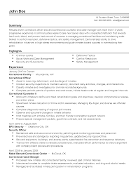 Security Guard Resume Prison Officer Cover Letter Example Correctional Officer Cover
