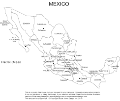 Mexico Cities Map by Mexico Printable Blank Map Baja Mexico City Royalty Free