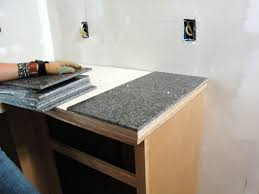 How To Install Kitchen Island by How To Install A Granite Tile Kitchen Countertop How Tos Diy