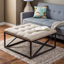 upholstered coffee table diy ottoman designs home design and