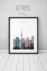 Art On Walls Home Decorating by Toronto Print Poster Wall Art Toronto Skyline Art Distressed