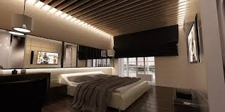 fascinating bedroom ceiling in red lights and light fixtures