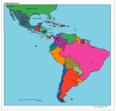 Central America Map Quiz by Spanish Speaking Countries And Their Capitals South America And