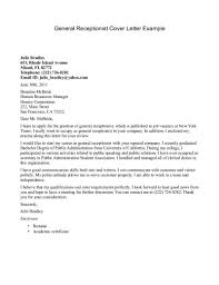 Cover Letter Examples For Business by Receptionist Cover Letter Example Http Jobresumesample Com 456