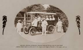 the first public motor vehicle put into circulation in indochina open bus used for postal and passenger services between saigon and tây ninh jpg
