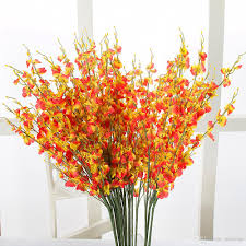 Flowers Home Decoration 2017 Upscale Artificial Flower Butterfly Orchid With Table Flower