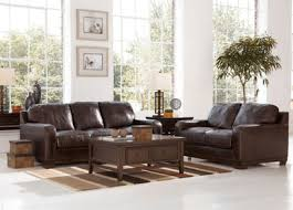 Sofa With Wood Trim by Luke Modern Genuine Brown Leather Wood Trim Sofa Couch Set Living