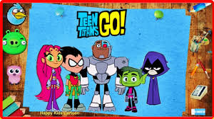 teen titans go cartoon magic pencil coloring book kids animation