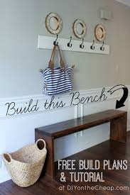 Basic Wood Bench Plans by Best 25 Build A Bench Ideas On Pinterest Diy Wood Bench Bench