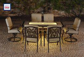 Sears Dining Room Tables La Z Boy Outdoor Halley 7pc Dining Set With Lighted Table Limited