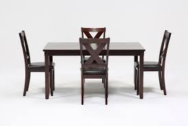 Brown Dining Room Table Dakota 5 Piece Dining Table W Side Chairs Living Spaces